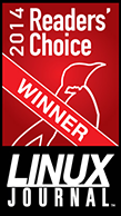 Linux Journal Readers Choice Award 2014