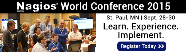 Don't miss your chance to attend the 2015 Nagios World conference!