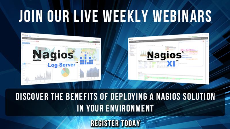 Live Webinars | Nagios Log Server | Nagios XI