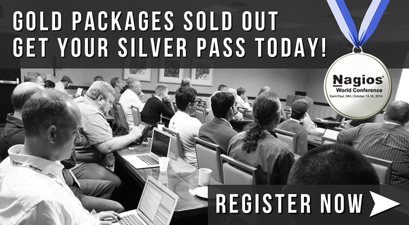 Reserve Your Silver Pass to Nagios World Conference 2014