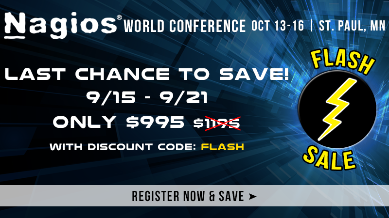 Register for Nagios World Conference